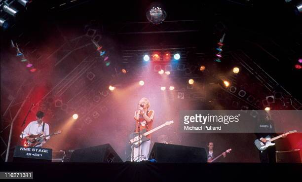 Radiohead perform on stage at Glastonbury Festival UK June 1994