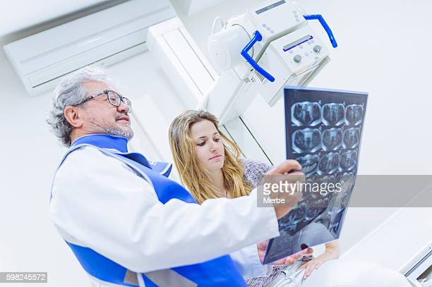 Radiologist and patient