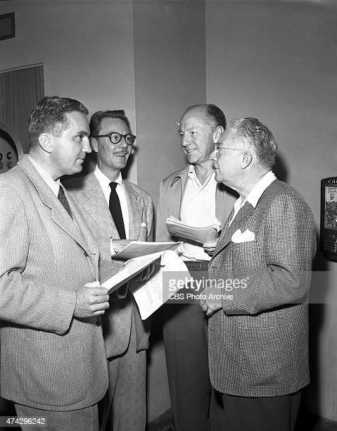 Radio's Amos n Andy From left Jack Bolton announcer John Lake Freeman Gosden and Charles Correll Image dated October 24 1948