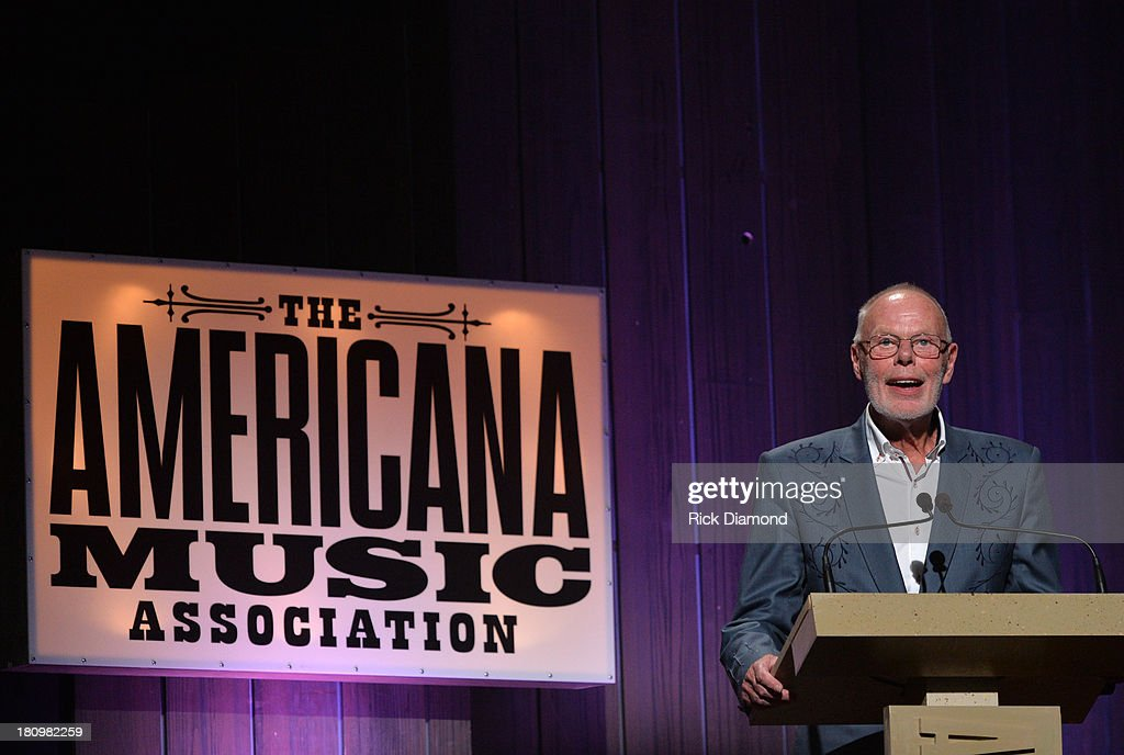 BBC Radio's Bob Harris presents the Lifetime Achievement Award for an Instrumentalist at the 12th Annual Americana Music Honors And Awards Ceremony Presented By Nissan on September 18, 2013 in Nashville, Tennessee.