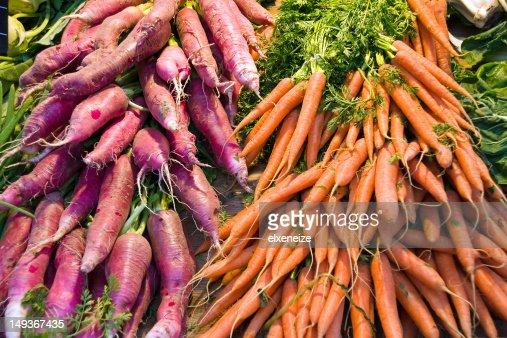 Radish and Carrots : Stock Photo