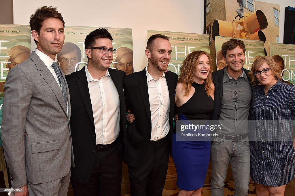 RADiUS-TWC Co-President Jason Janego, actor Justin Lader, director <a gi-track='captionPersonalityLinkClicked' href=/galleries/search?phrase=Charlie+McDowell&family=editorial&specificpeople=591688 ng-click='$event.stopPropagation()'>Charlie McDowell</a>, actor <a gi-track='captionPersonalityLinkClicked' href=/galleries/search?phrase=Elisabeth+Moss&family=editorial&specificpeople=3079265 ng-click='$event.stopPropagation()'>Elisabeth Moss</a>. actor <a gi-track='captionPersonalityLinkClicked' href=/galleries/search?phrase=Mark+Duplass&family=editorial&specificpeople=572703 ng-click='$event.stopPropagation()'>Mark Duplass</a> and producer Mel Eslyn attend 'The One I Love' New York Screening at the Crosby Street Theater on August 5, 2014 in New York City.
