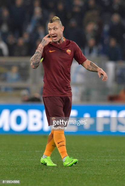 Radja Nainggolan during the Tim Cup football match SS Lazio vs AS Roma at the Olympic Stadium in Rome on march 01 2017