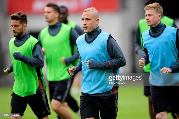 Radja Nainggolan midfielder of Belgium pictured during a training session of the National Soccer Team of Belgium prior to the 2018 World Cup...