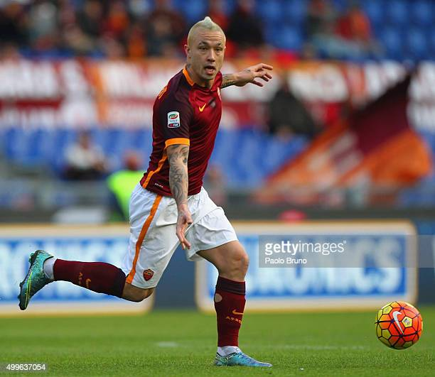 Radja Nainggolan of AS Roma in action during the Serie A match between AS Roma and Atalanta BC at Stadio Olimpico on November 29 2015 in Rome Italy