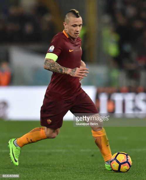 Radja Nainggolan of AS Roma in action during the TIM Cup match between SS Lazio and AS Roma at Olimpico Stadium on March 1 2017 in Rome Italy