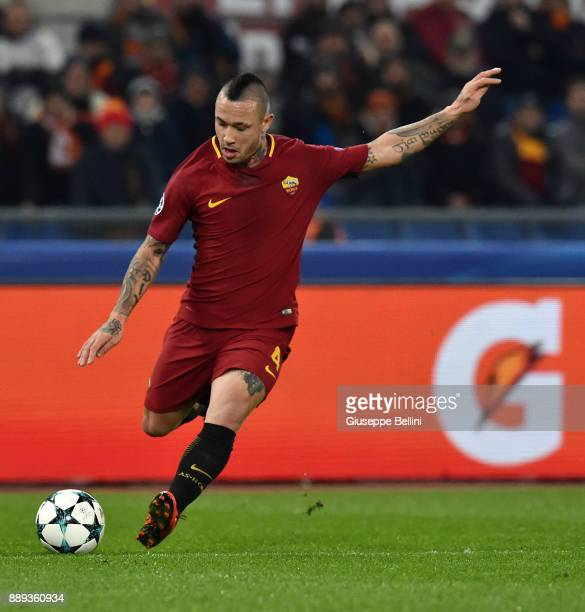Radja Nainggolan of AS Roma in action during the UEFA Champions League group C match between AS Roma and Qarabag FK at Stadio Olimpico on December 5...