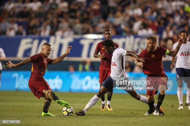 Radja Nainggolan of AS Roma Joshua Onomah of Tottenham Hotspur and Daniele De Rossi of AS Roma during the International Champions Cup 2017 match...