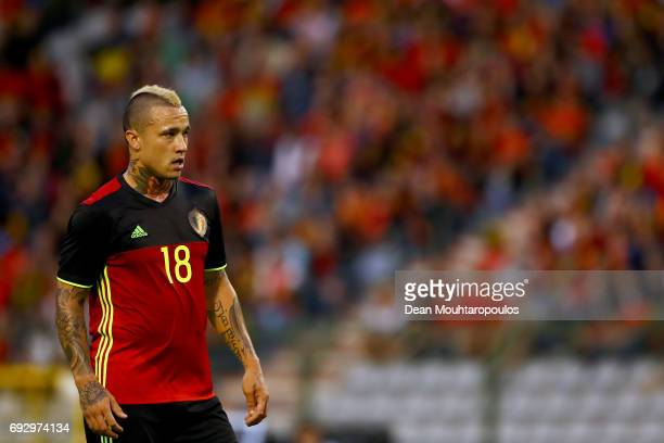 Radja Nainggolan of Belgium in action during the International Friendly match between Belgium and Czech Republic at Stade Roi Baudouis on June 5 2017...