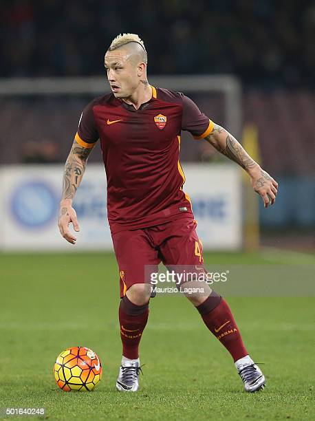 Radja Nainggolan of Roma during the Serie A match betweeen SSC Napoli and AS Roma at Stadio San Paolo on December 13 2015 in Naples Italy