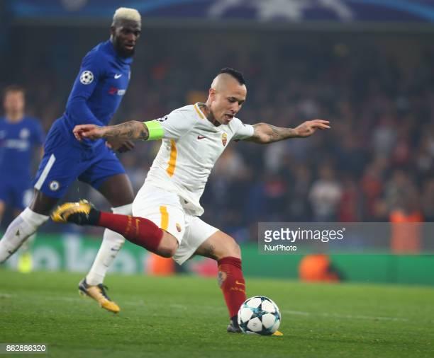 Radja Nainggolan of Roma during UEFA Champions League Group C MATCH 3 match between Chelsea against AS Roma at Stamford Bridge London on 18 Oct 2017