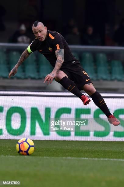 Radja Nainggolan of Roma in action during the Serie A match between AC Chievo Verona and AS Roma at Stadio Marc'Antonio Bentegodi on December 10 2017...