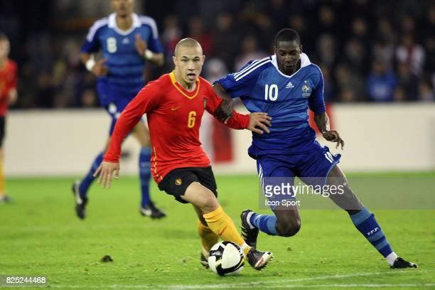 Radja NAINGGOLAN / Younousse SANKHARE Belgique / France Eliminatoires Euro Espoirs Mouscron