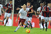 Radja Naingollan of AS Roma in action during the Serie A match between Bologna FC and AS Roma at Stadio Renato Dall'Ara on November 21 2015 in...