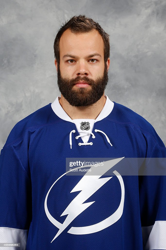 <a gi-track='captionPersonalityLinkClicked' href=/galleries/search?phrase=Radko+Gudas&family=editorial&specificpeople=5648763 ng-click='$event.stopPropagation()'>Radko Gudas</a> of the Tampa Bay Lightning poses for his official headshot for the 2014-2015 season on September 18, 2014 at the Tampa Bay Times Forum in Tampa, Florida.