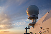 "A radar dome, or ""radome"", is used to protect marine radar and communications equipment."