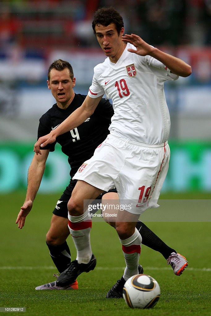 Radosav Petrovic of Serbia during the New Zealand v Serbia International Friendly match at the Hypo Group Arena on May 29, 2010 in Klagenfurt, Austria.