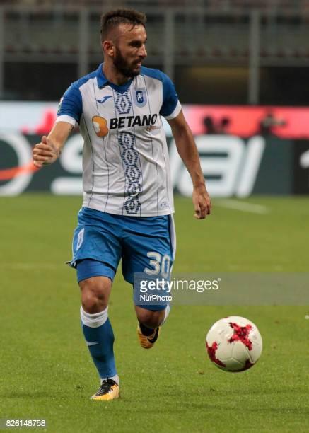 Radoslav Dimitrov during the preliminaries of Europa League 2017/2018 match between Milan v Craiova in Milan on august 3 2017