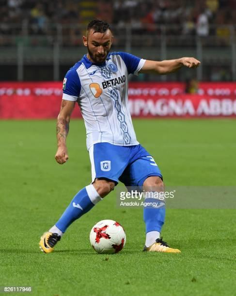 Radoslav Dimitrov of CS U Craiova in action during UEFA Europa League Qualifying Round match between AC Milan and CS U Craiova at Giuseppe Meazza of...