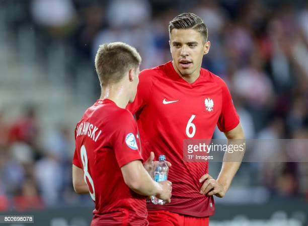 Radoslaw Murawski of Poland Jan Bednarek of Poland during the UEFA European Under21 Championship Group A match between England and Poland at Kielce...