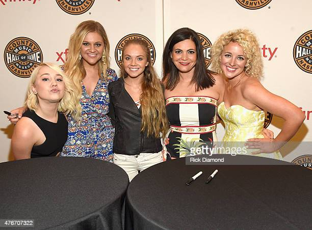 Rae Lynn Kelsea BalleriniDanielle Bradbery Angaleena Presley and Cam attend the CMT's Next Women Of Country at Country Music Hall of Fame and Museum...