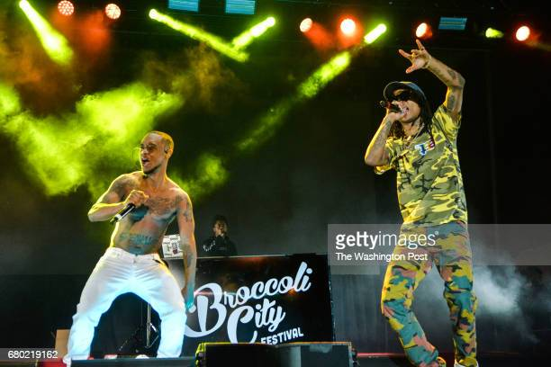Rae Sremmurd performs at Broccoli City Festival on Saturday