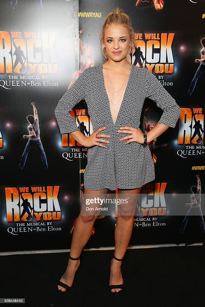 Raechelle Banno arrives ahead of We Will Rock You Opening Night at Lyric Theatre, Star City on May 5, 2016 in Sydney, Australia.
