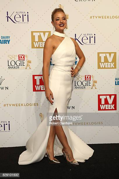 Raechelle Banno arrives at the 58th Annual Logie Awards at Crown Palladium on May 8 2016 in Melbourne Australia