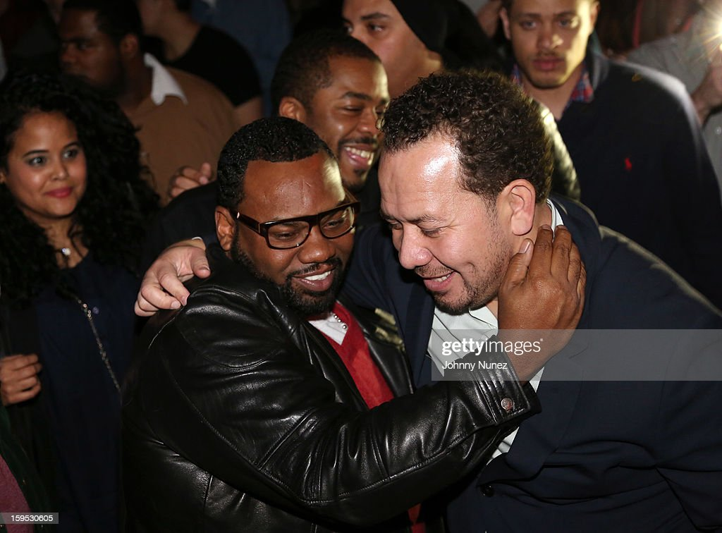<a gi-track='captionPersonalityLinkClicked' href=/galleries/search?phrase=Raekwon&family=editorial&specificpeople=798556 ng-click='$event.stopPropagation()'>Raekwon</a> and Elliott Wilson celebrate their birthdays at Greenhouse on January 14, 2013 in New York City.