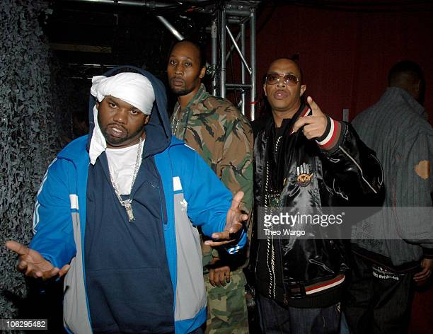 Raekwon Rza and UGod of WuTang Clan Honorees during 2006 VH1 HipHop Honors Audience and Backstage at Hammerstein Ballroom in New York City New York...