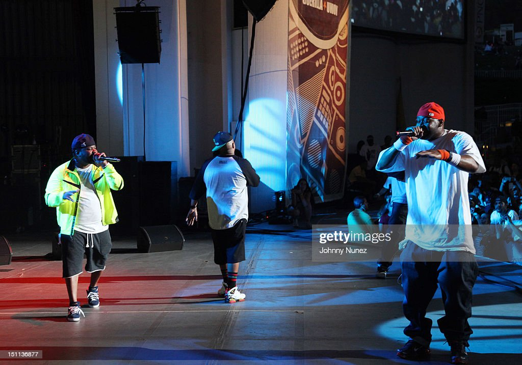 <a gi-track='captionPersonalityLinkClicked' href=/galleries/search?phrase=Raekwon&family=editorial&specificpeople=798556 ng-click='$event.stopPropagation()'>Raekwon</a>, Styles P, and <a gi-track='captionPersonalityLinkClicked' href=/galleries/search?phrase=Ghostface+Killah&family=editorial&specificpeople=618815 ng-click='$event.stopPropagation()'>Ghostface Killah</a> perform during the 2012 Rock The Bells music festival at the PNC Bank Arts Center on September 1, 2012 in Holmdel, New Jersey.