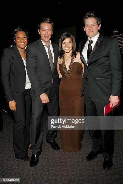Raelyn Johnson David Muir America Ferrera and Ryan Williams attend TIME Magazine's 100 Most Influential People 2007 at Jazz at Lincoln Center on May...