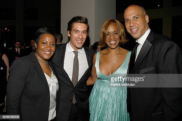 Raelyn Johnson David Muir Gayle King and Cory Booker attend TIME Magazine's 100 Most Influential People 2007 at Jazz at Lincoln Center on May 8 2007...