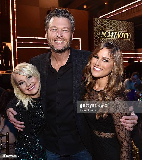 RaeLynn Blake Shelton and Cassadee Pope attend the 2015 'CMT Artists of the Year' at Schermerhorn Symphony Center on December 2 2015 in Nashville...