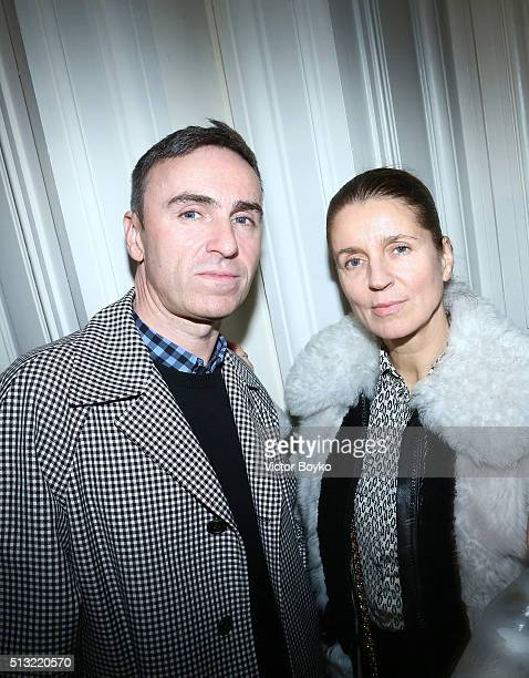 Raf Simons and Karla Otto attend Prom 2016 Party hosted by Coach for the Paris Flagship opening as part of the Paris Fashion Week Womenswear...