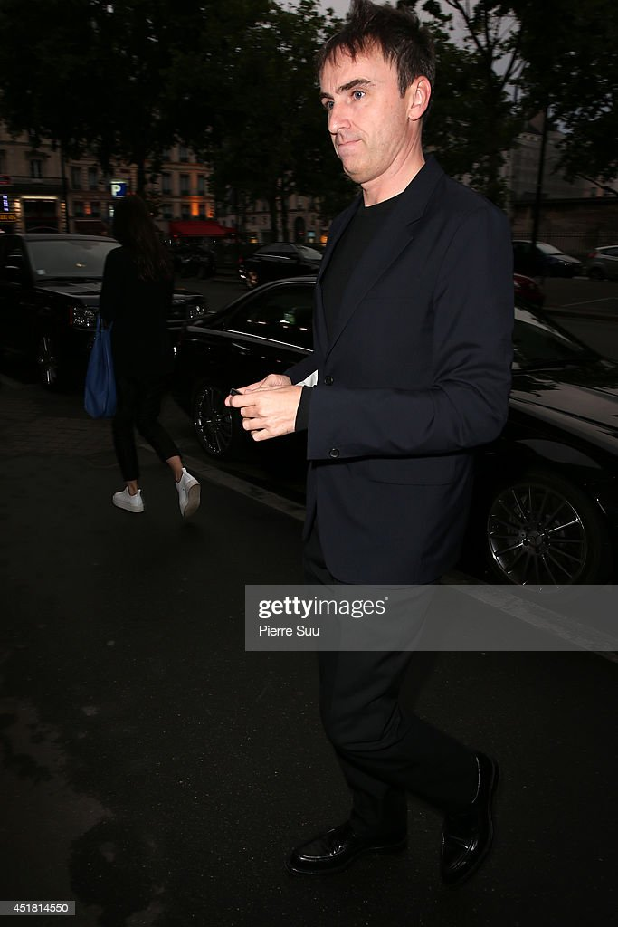 Raf Simons arrives at a 'Dior' dinner on July 7, 2014 in Paris, France.