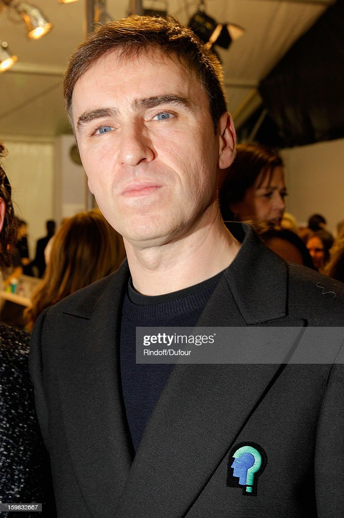 Raf Simons attends the Christian Dior Spring/Summer 2013 Haute-Couture show as part of Paris Fashion Week on January 21, 2013 in Paris, France.