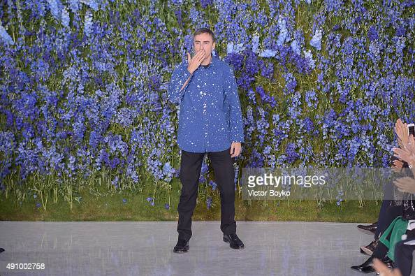 Raf Simons walks the runway during the Christian Dior show as part of the Paris Fashion Week Womenswear Spring/Summer 2016 on October 2 2015 in Paris...