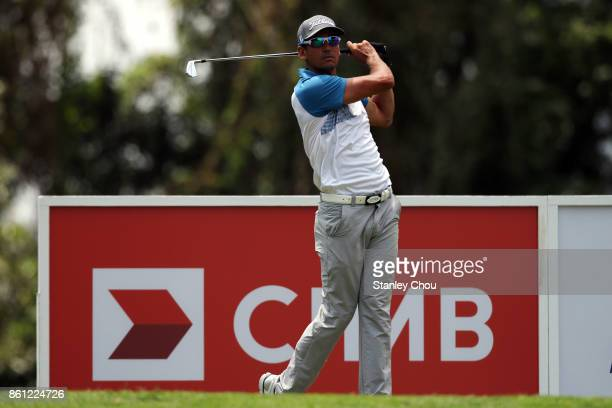 Rafa Cabrera Bello of Spain in action during round three of the 2017 CIMB Classic at TPC Kuala Lumpur on October 14 2017 in Kuala Lumpur Malaysia