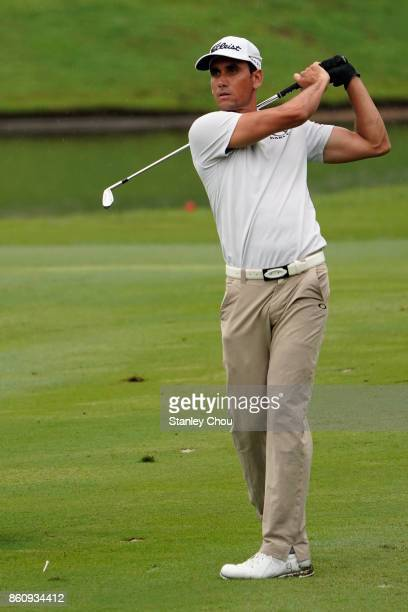 Rafa Cabrera Bello of Spain in action during round two of the 2017 CIMB Classic at TPC Kuala Lumpur on October 13 2017 in Kuala Lumpur Malaysia