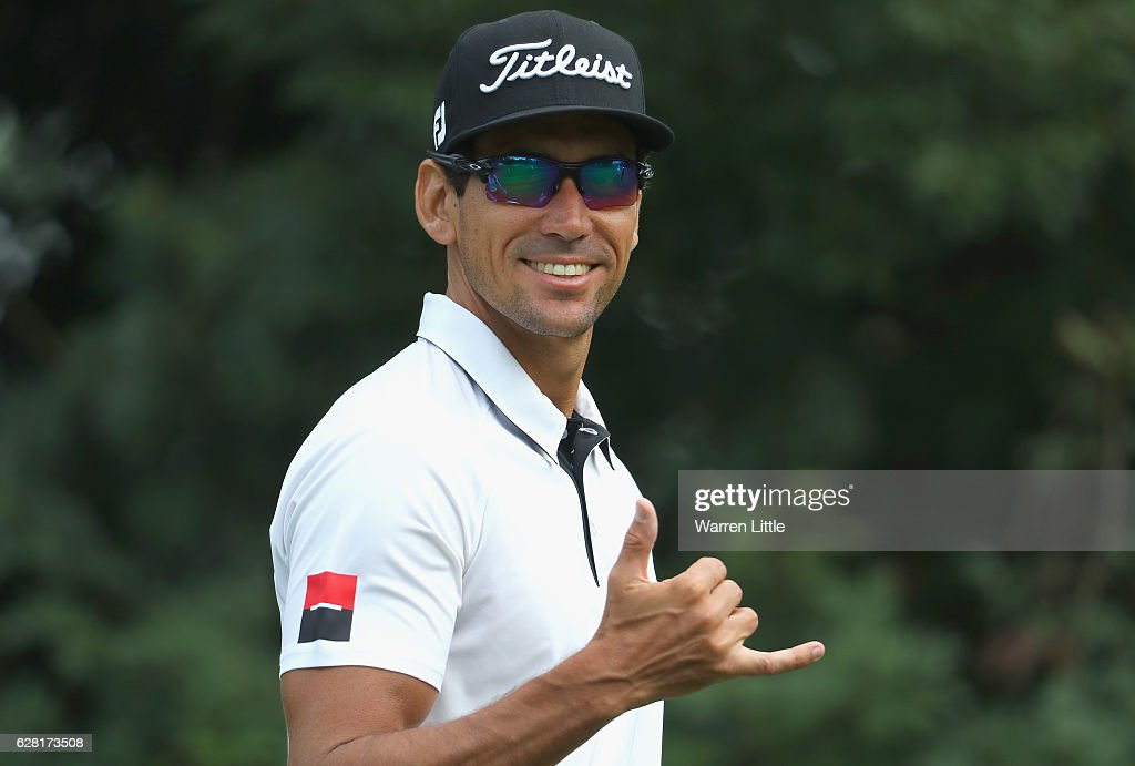 Rafa Cabrera Bello of Spain in action during the pro-am ahead of the UBS Hong Kong Open at The Hong Kong Golf Club on December 7, 2016 in Hong Kong, Hong Kong.
