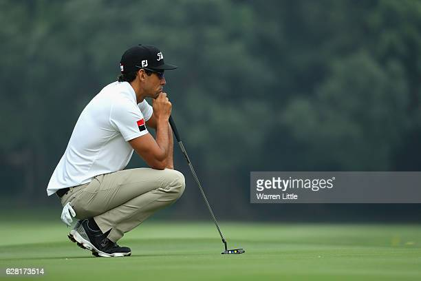 Rafa Cabrera Bello of Spain in action during the proam ahead of the UBS Hong Kong Open at The Hong Kong Golf Club on December 7 2016 in Hong Kong...
