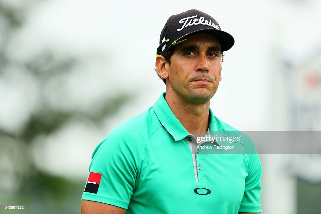 Rafa Cabrera Bello of Spain looks on during the first round of the US Open at Oakmont Country Club on June 16 2016 in Oakmont Pennsylvania