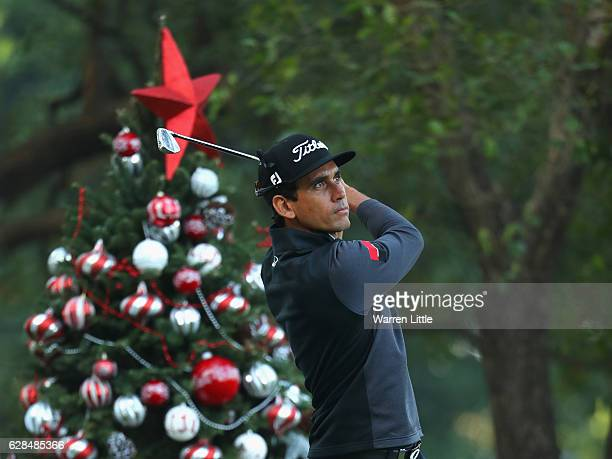 Rafa Cabrera Bello of Spain tees off on the 12th hole during the first round of the UBS Hong Kong Open at The Hong Kong Golf Club on December 8 2016...