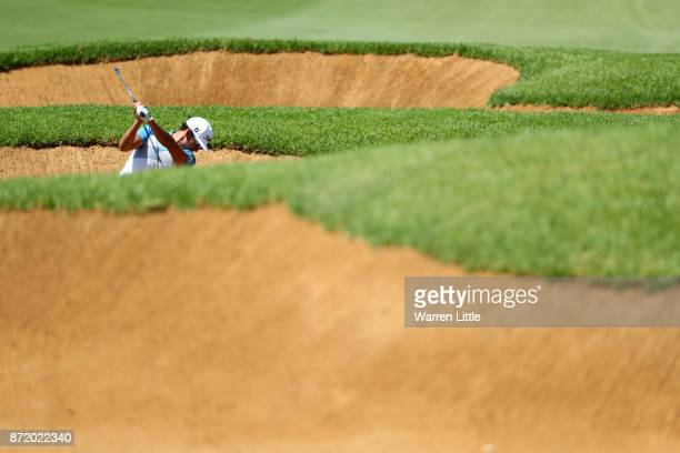 Rafa CabreraBello of Spain hits his second shot on the 10th hole during the first round of the Nedbank Golf Challenge at Gary Player CC on November 9...