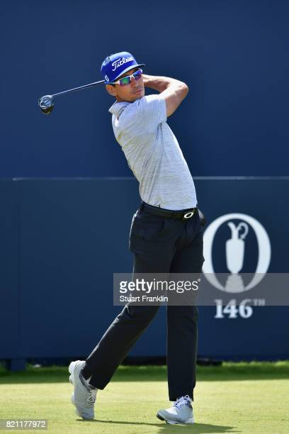 Rafa CabreraBello of Spain hits his tee shot on the 1st hole during the final round of the 146th Open Championship at Royal Birkdale on July 23 2017...