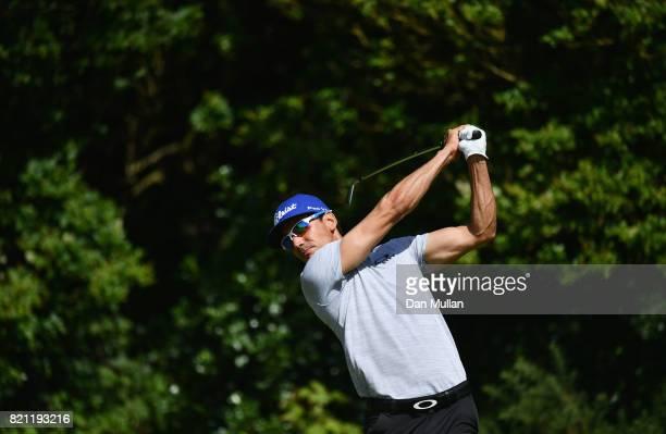 Rafa CabreraBello of Spain hits his tee shot on the 5th hole during the final round of the 146th Open Championship at Royal Birkdale on July 23 2017...