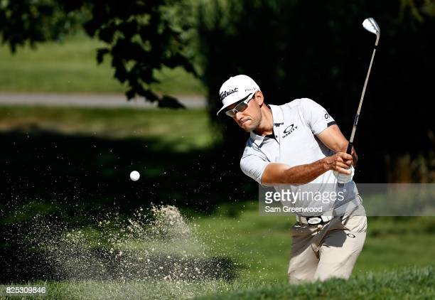 Rafa CabreraBello of Spain plays a shot during a practice round prior to the World Golf ChampionshipsBridgestone Invitational at Firestone Country...