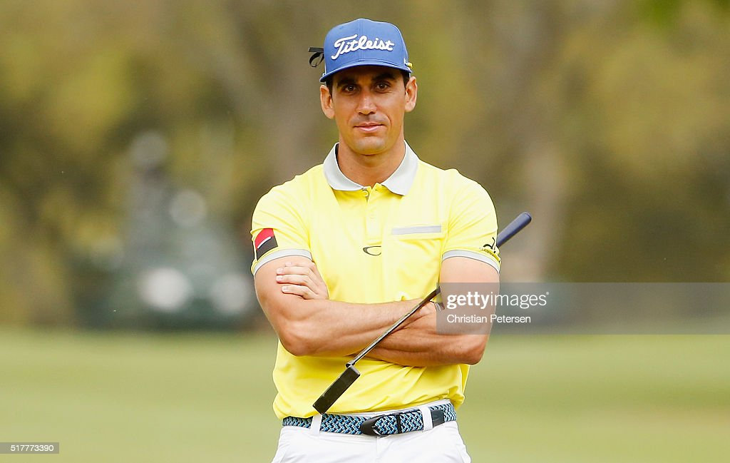 Rafa CabreraBello of Spain waits on the fifth green during his semifinal match with Louis Oosthuizen at the World Golf ChampionshipsDell Match Play...