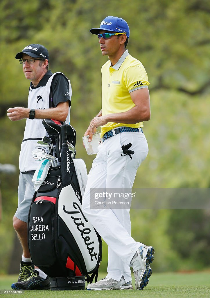 Rafa CabreraBello of Spain waits to play a shot during his semifinal match with Louis Oosthuizen at the World Golf ChampionshipsDell Match Play at...